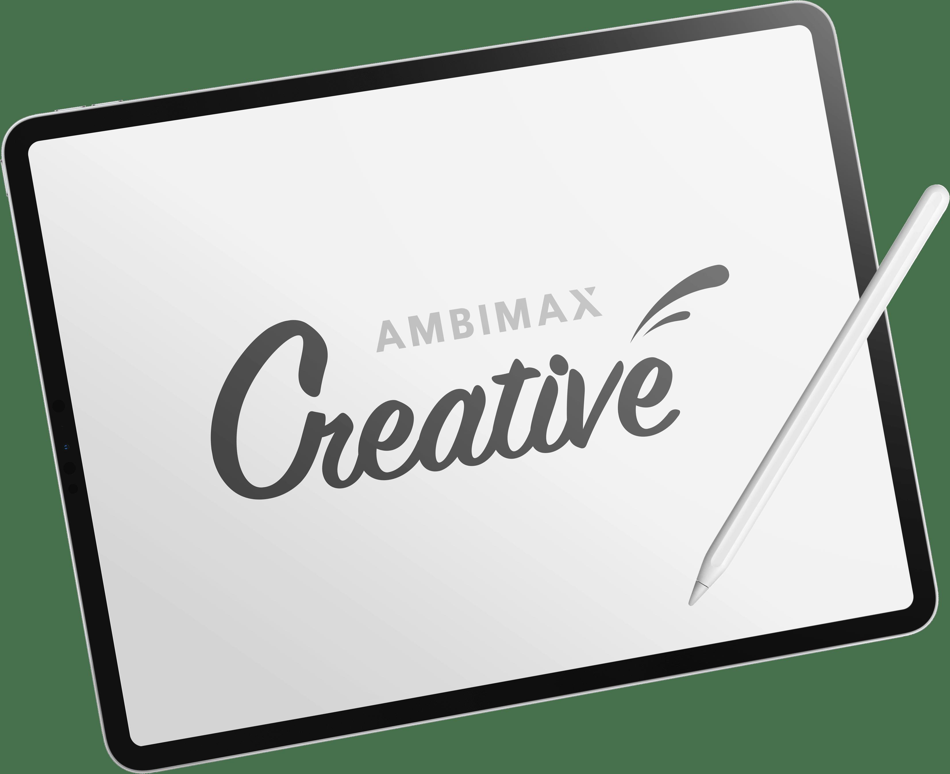 Ambimax Creative Logo Tablet Design