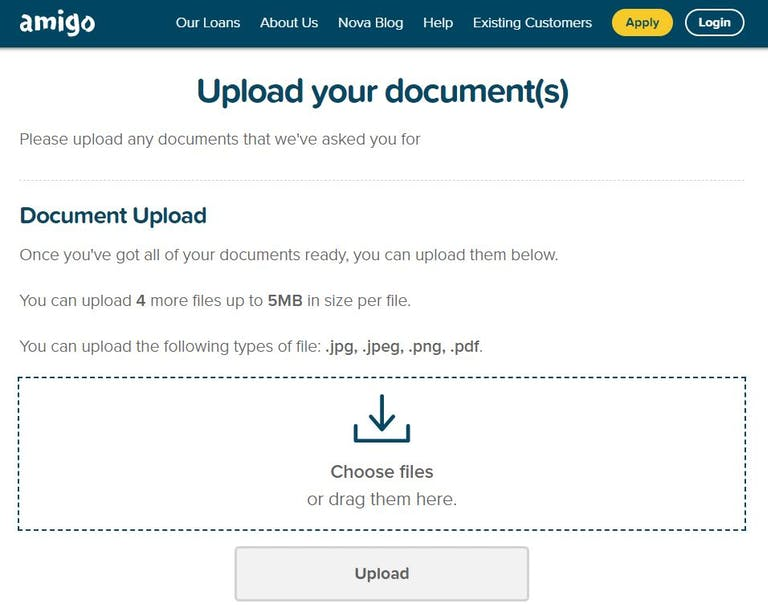 Amigo Loans Document Portal