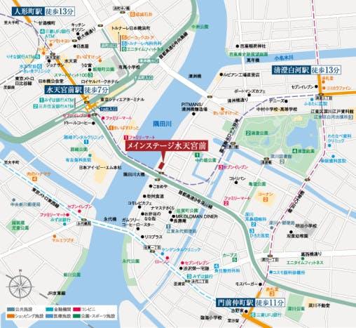 現地は都心を縦横に走る多くの地下鉄路線の駅が間近にあり都心の主要エリアへダイレクトアクセスできる恵まれたポジションです。