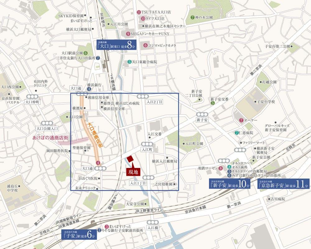 横浜駅周辺、都心や羽田など、各所への利便性に優れながらも閑静な住環境。