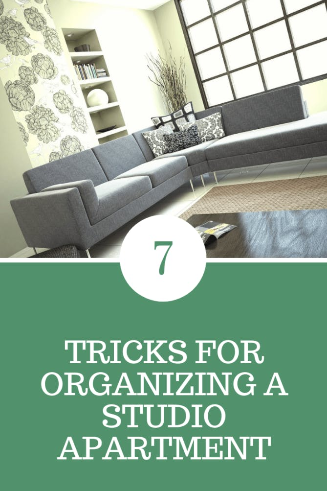 organizing a studio apartment
