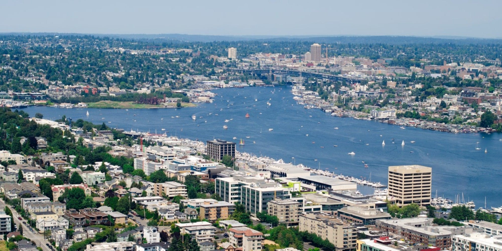 Aerial view of Lake Union