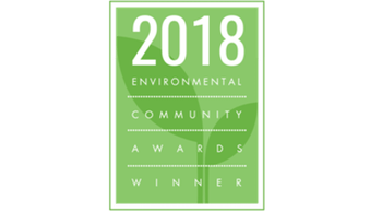 2018 Environmental community award winner