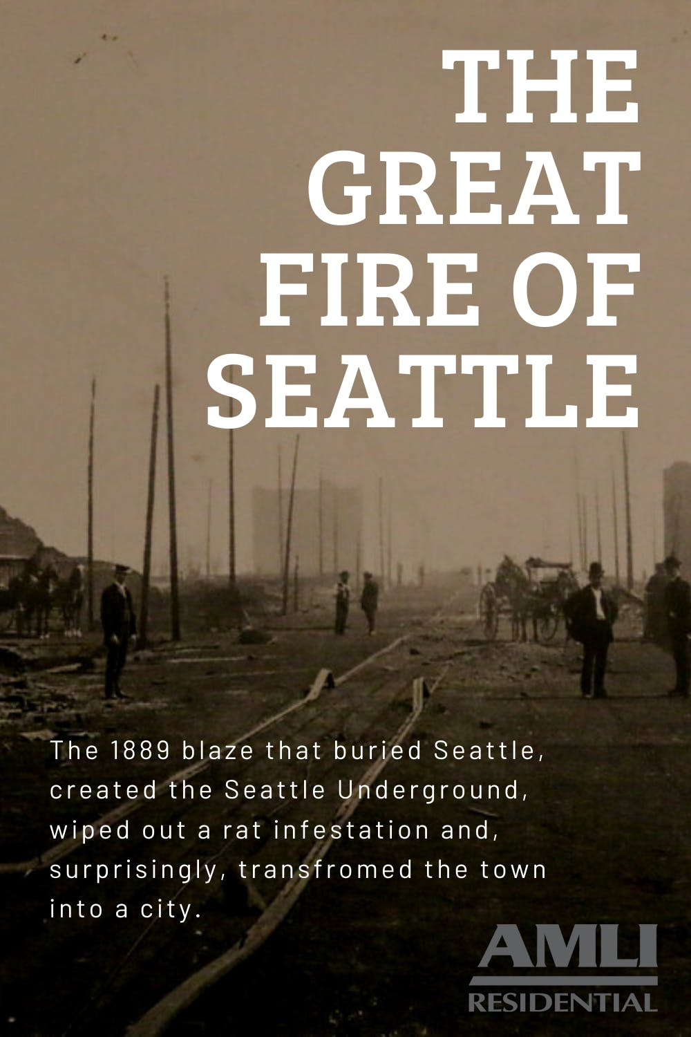 The Great Fire of Seattle pinterest pin