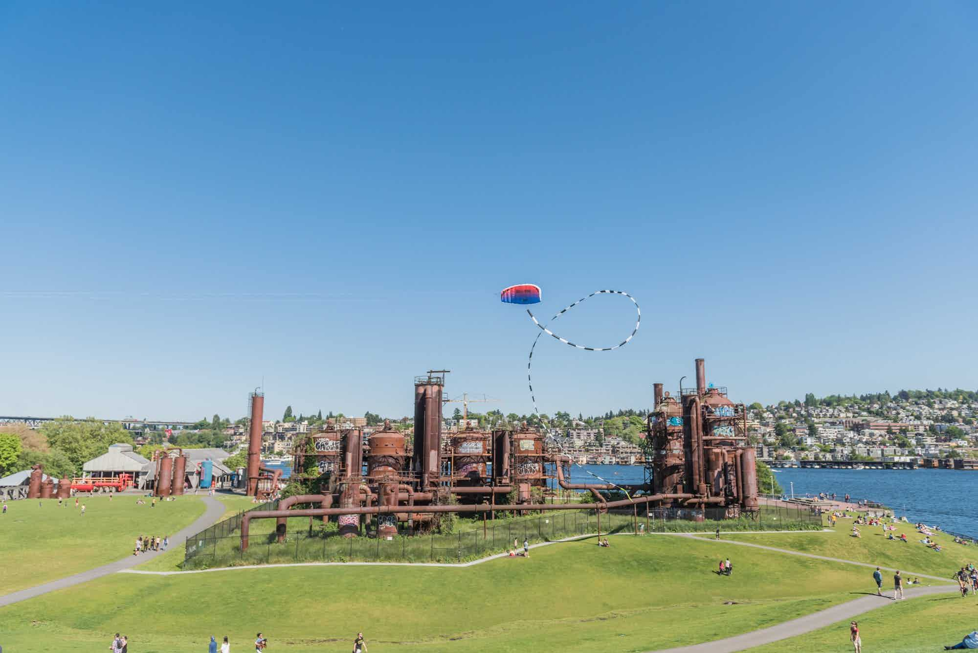 Old structures at Gas Works Park
