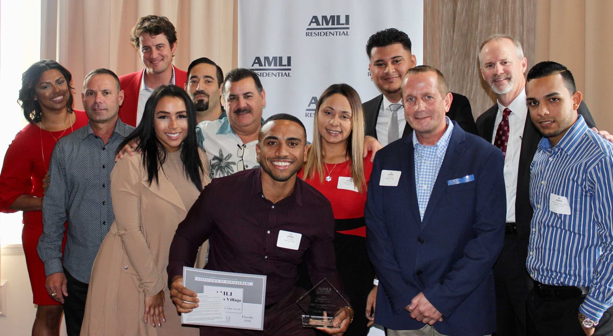 AMLI at the Ballpark team receiving annual award
