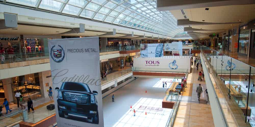 interior of the Galleria mall