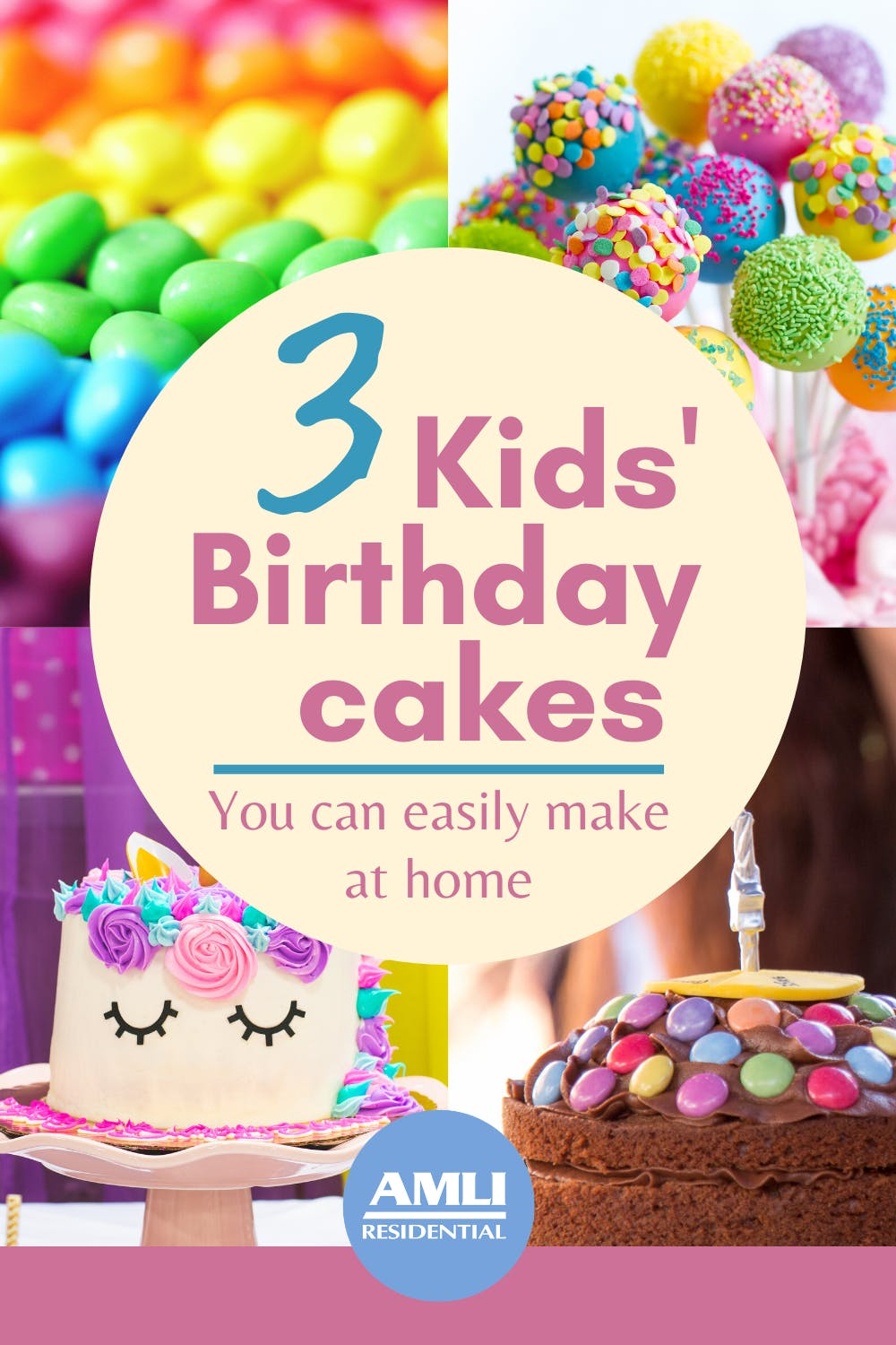 Sensational 3 Birthday Cakes For Kids That You Can Make At Home Birthday Cards Printable Giouspongecafe Filternl