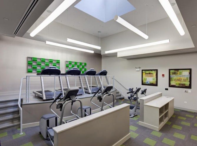Evanston Luxury Apartment Gym
