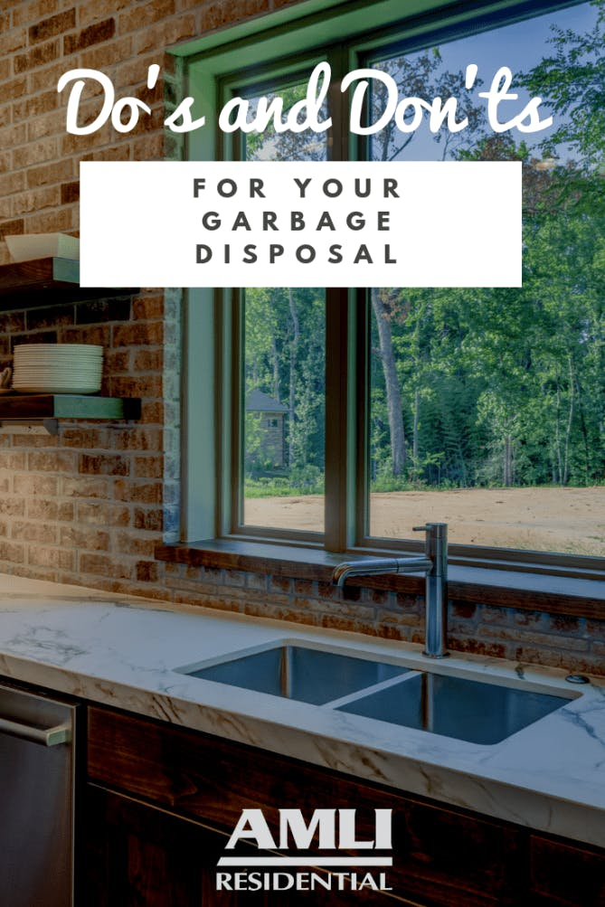 Do's and Don'ts for your garbage disposal