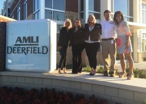 Sue Bersh and the AMLI Deerfield team