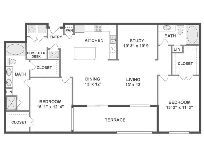 1 2 Br Montrose Apartments Amli City Vista