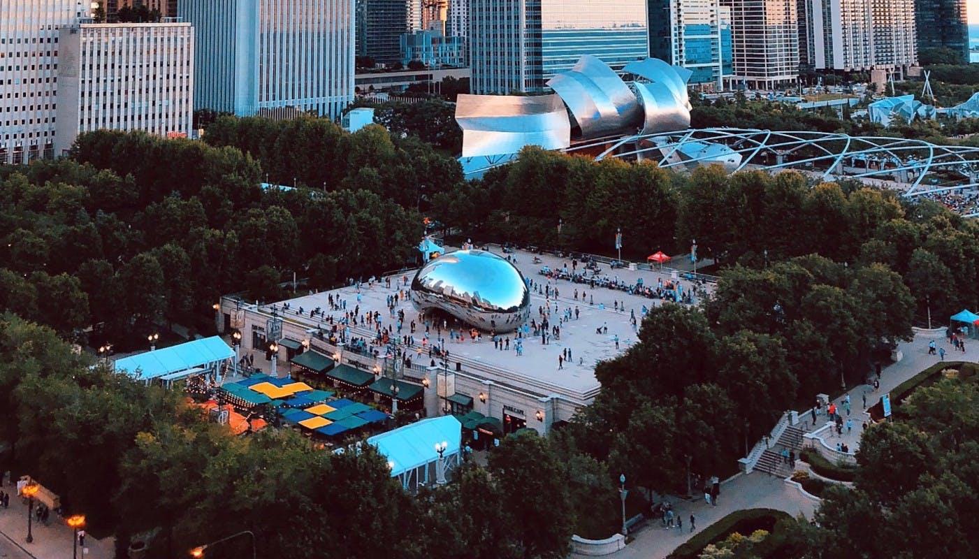 Aerial view of MIllenium Park
