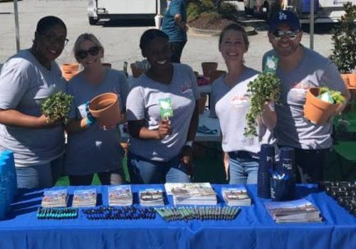 Resident planting event