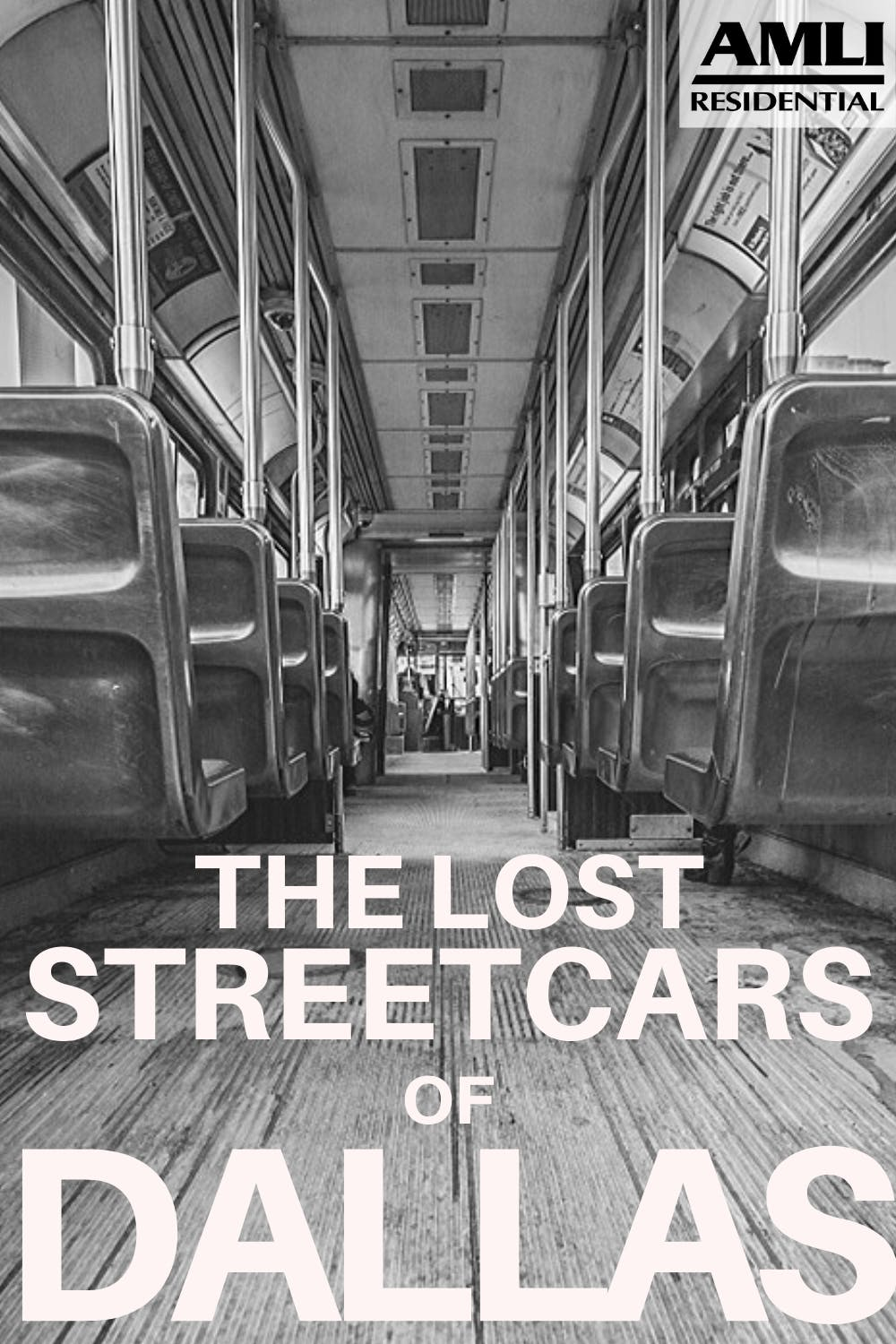 The lost streetcars of Dallas Pinterest graphic