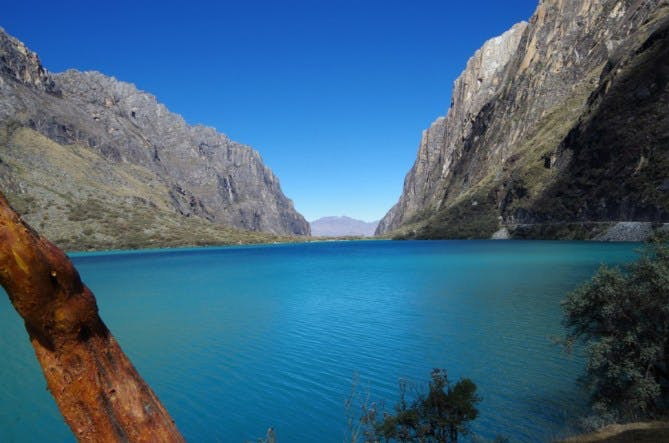 Lake Llanganuco in Peru