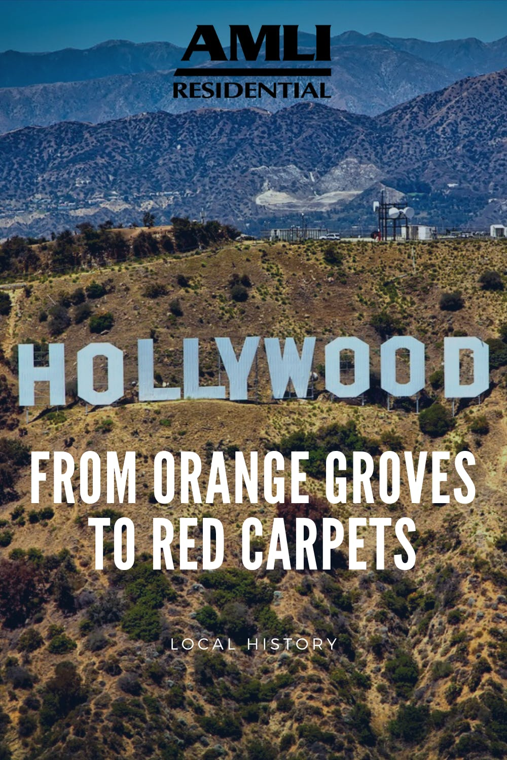 Hollywood history pinterest graphic