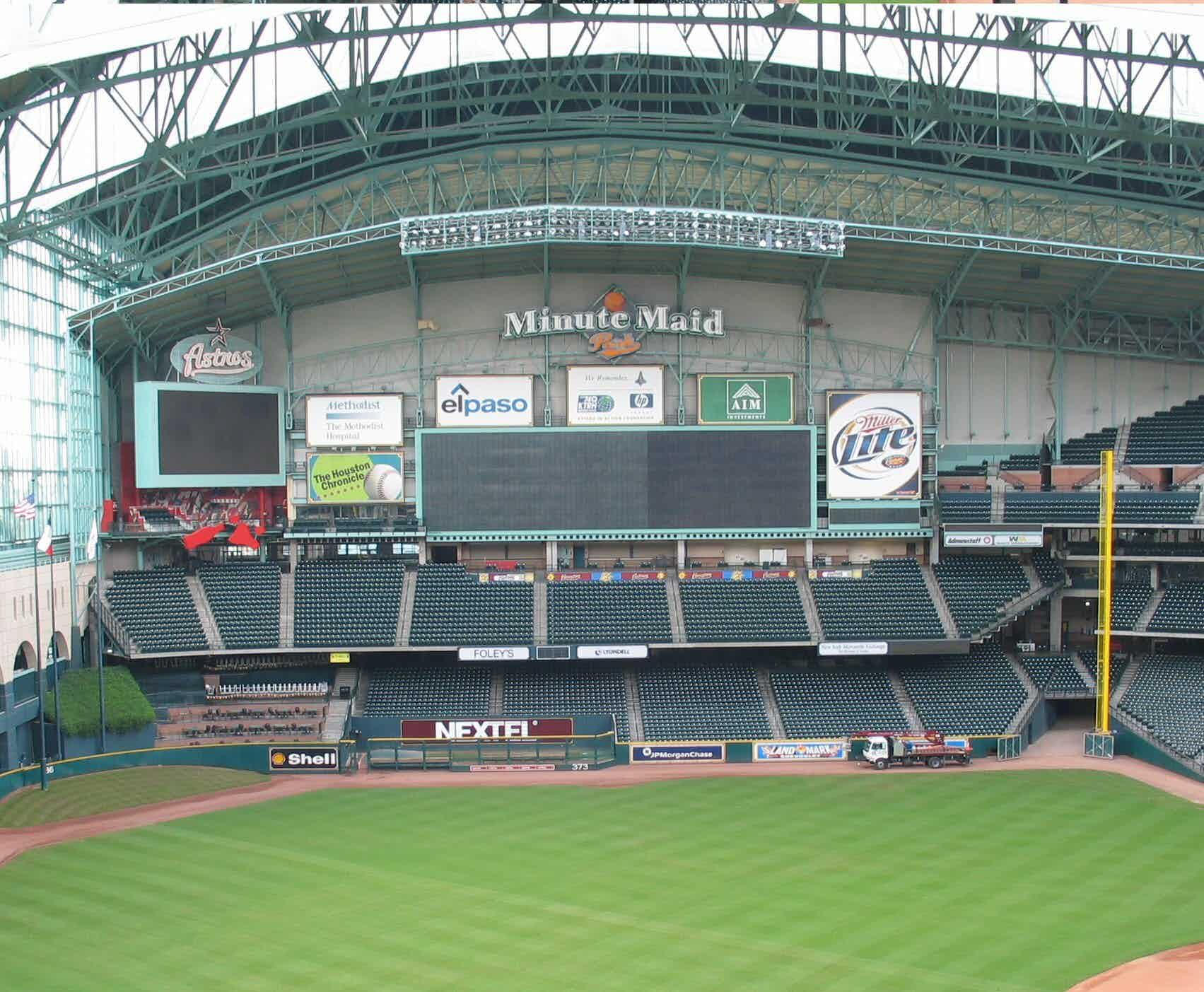 interior of Minute Maid Park