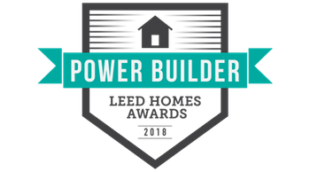 USGBC 2018 LEED Homes Power Builder (also awarded in 2015-17)