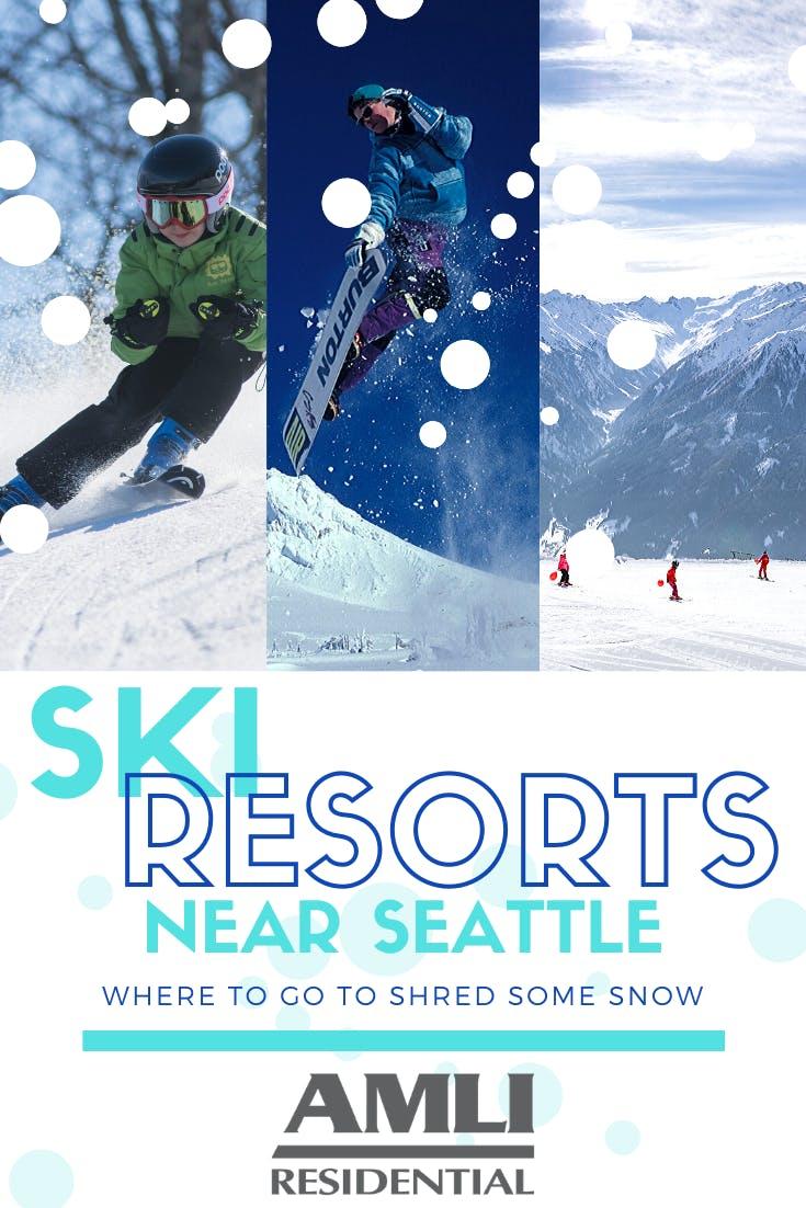 Ski resorts near Seattle Pinterest pin