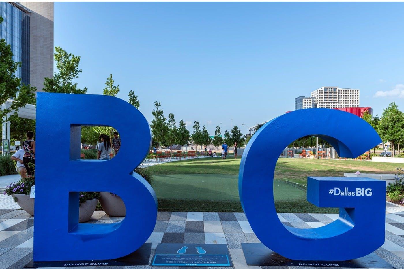 BIG sculpture at Klyde Warren Park