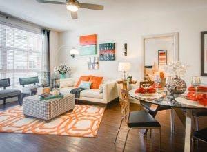 AMLI at Interlocken luxury apartment warm colors