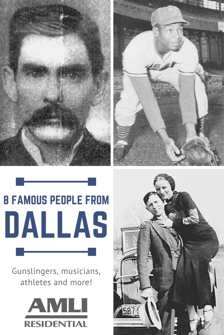 8 famous people from Dallas, Texas Pinterest Graphic