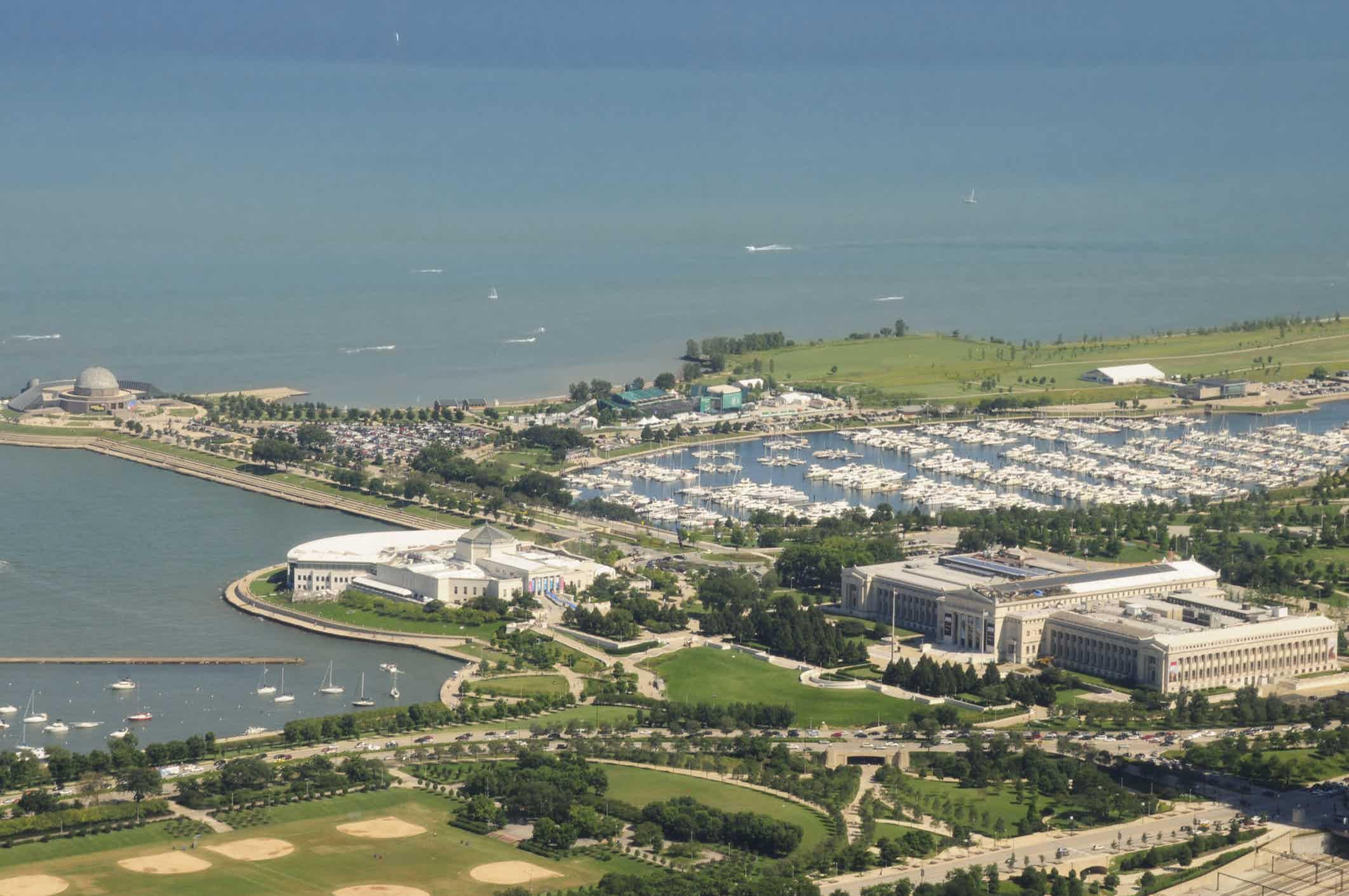 Aerial view of Museum Campus