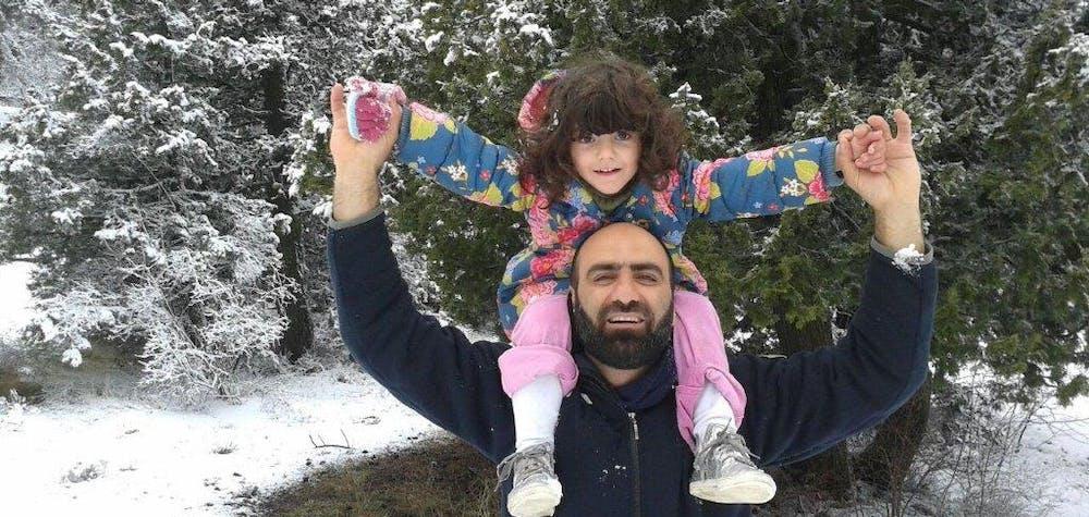 Ahmed H avec sa fille