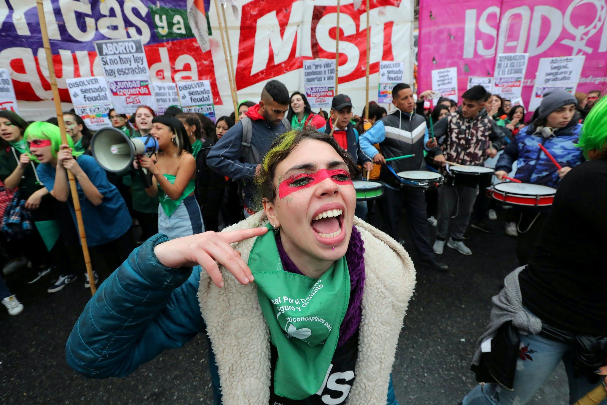 Manifestation pour le droit à l'avortement à Buenos Aires en août 2018.