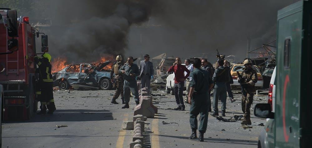 Attaque à la voiture piégée. Kaboul 31/05/2017 © SHAH MARAI/AFP/Getty Images