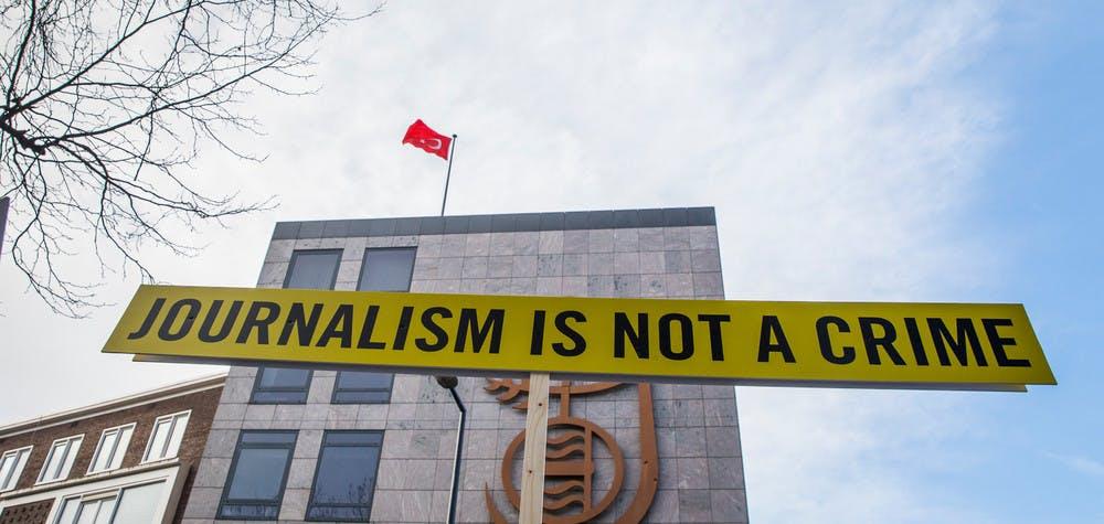 Action devant le consulat turque à Rotterdam