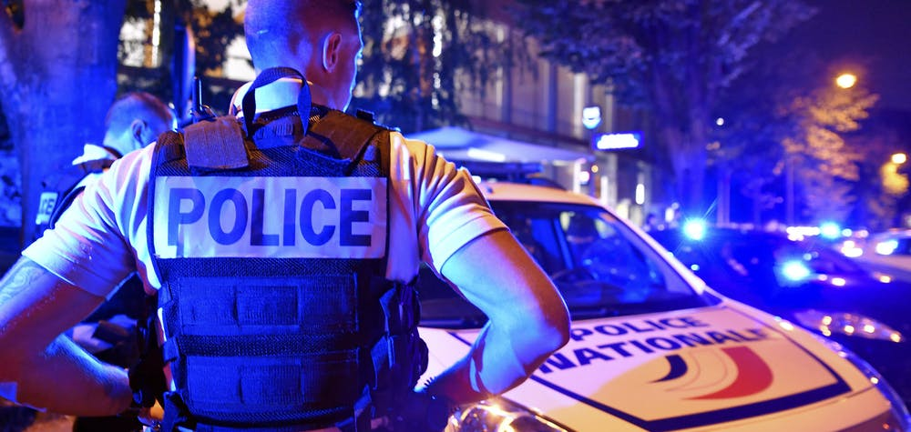 Dozens of policemen gather to protest against the statements of the Minister of the Interior, Christophe Castaner, concerning the methods of arrest of the policemen outside the Maison De La Radio, home of French public radio, in Paris, France on June 25, 2020. Photo by Karim Ait Adjedjou/Avenir Pictures/ABACAPRESS.COM