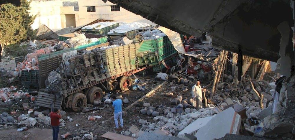 Syrie : attaque contre un convoi humanitaire