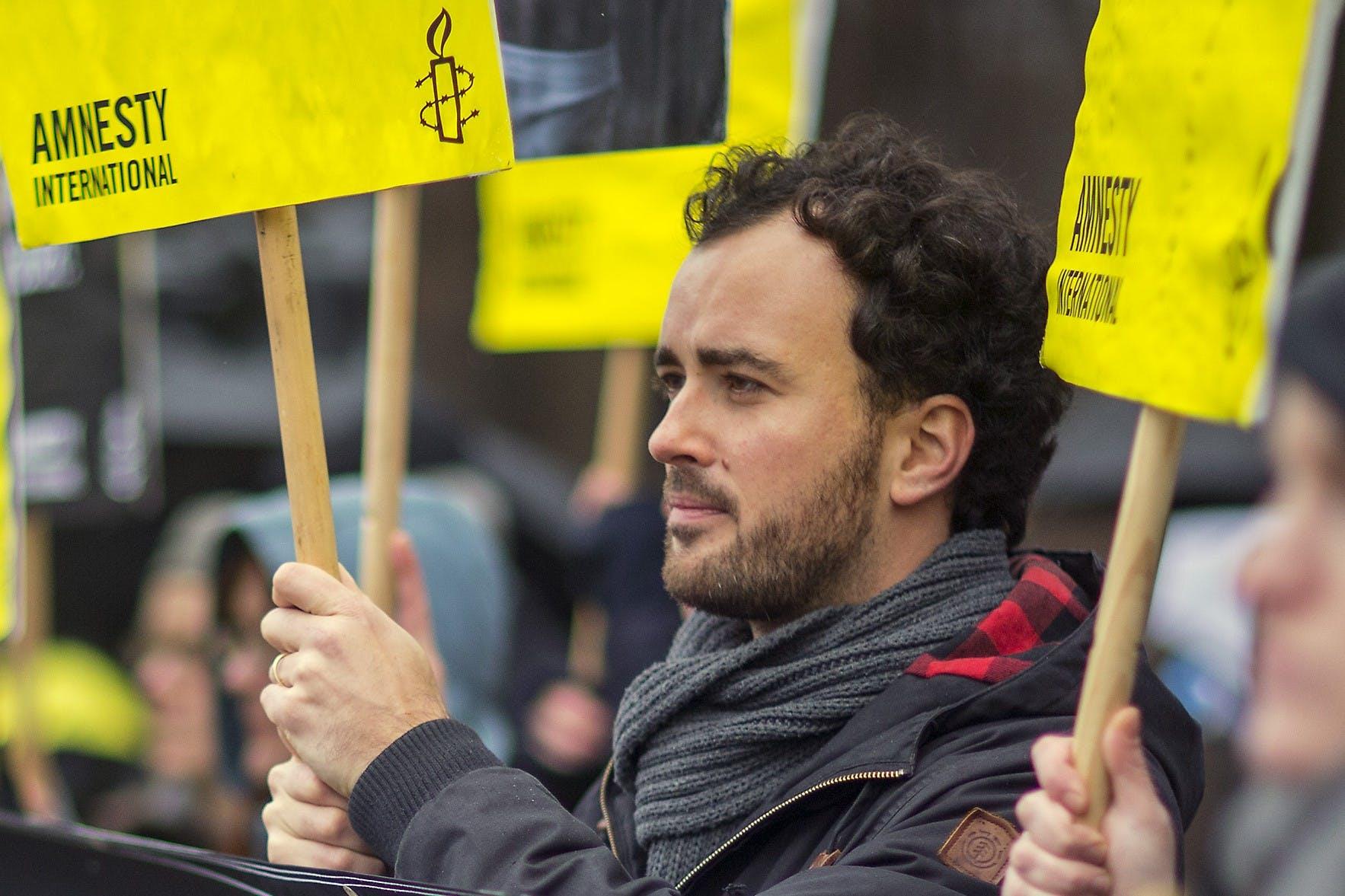 Manifestation pour la libération de Raif Badawi