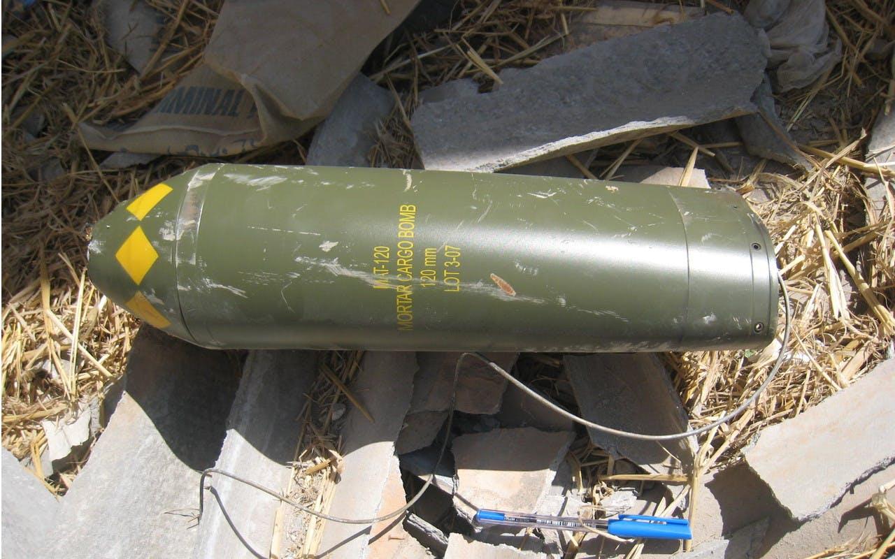 Projectile de mortier MAT-120 de fabrication espagnole
