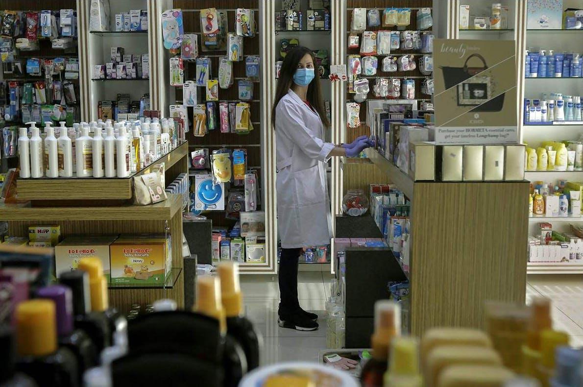 Tatiana Rcaiby, 36, pharmacist, in Byblos, Lebanon, on April 20, 2020;