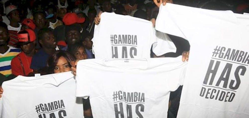 Manifestation après les élections en Gambie 2016