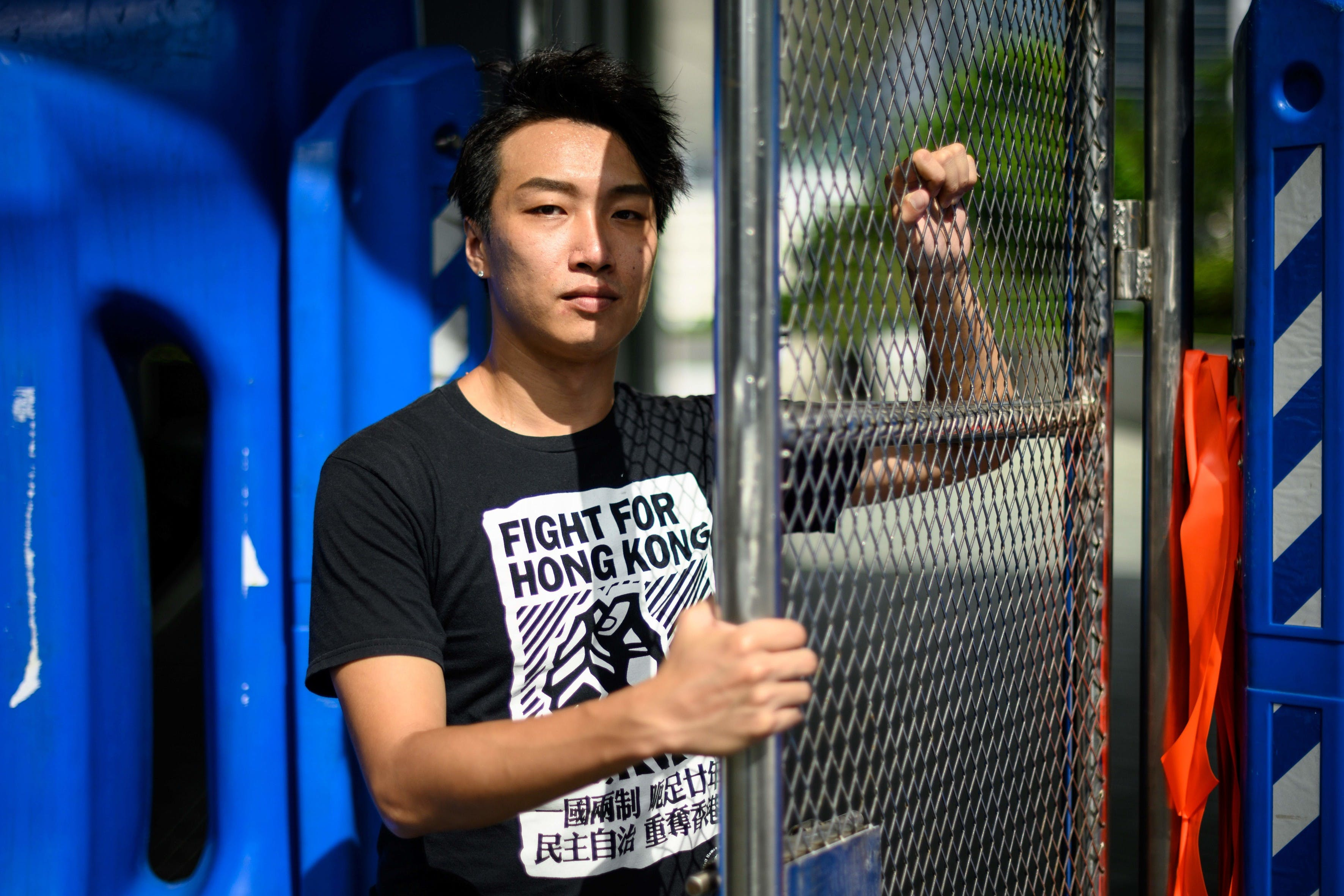 Un manifestant à Hong Kong © ANTHONY WALLACE/AFP/Getty Images