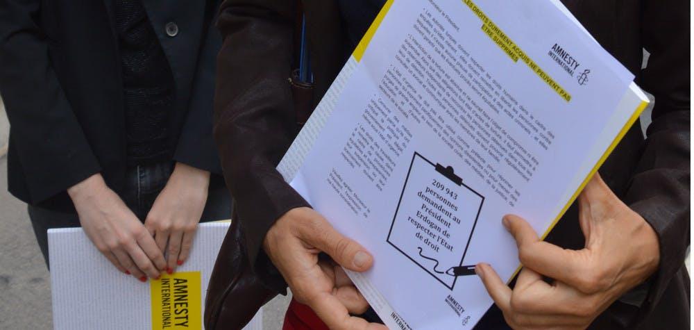 L'ambassade de Turquie refuse nos pétitions © AIF