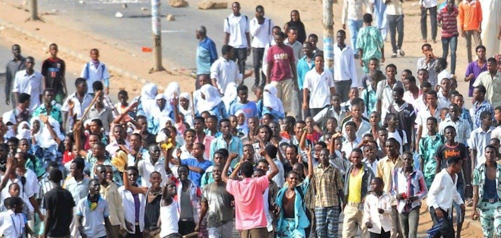 Manifestants soudanais dans la ville d'Omdurman - Soudan sept.2013