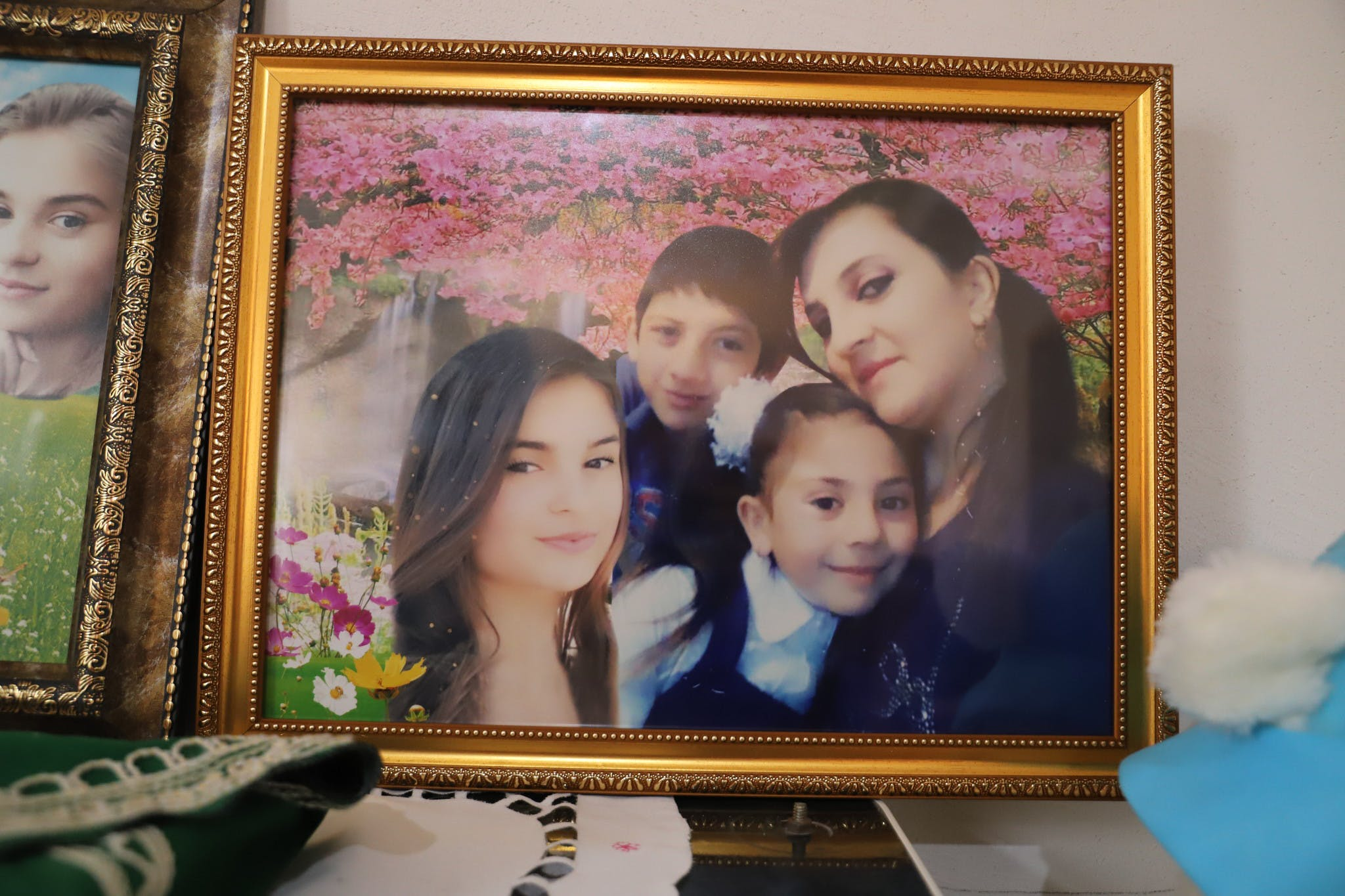 Four victims of the Ramiz family who were killed in the Mukhtar Hajiyev neighbourhood of GANJA, in Azerbaijan, by a Scud ballistic missile launched by Armenian forces, on 17 October 2020 which killed 21 civilians and destroyed dozens of houses