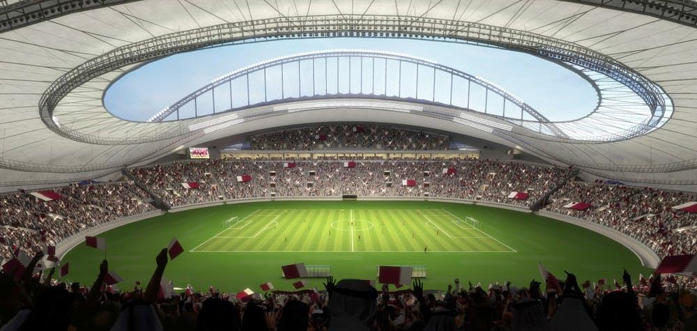 Vue d'artiste du Khalifa International Stadium en 2022
