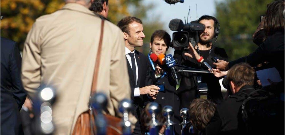 Emmanuel Macron 29/9/2017 Photo: Raul Mee (EU2017EE)