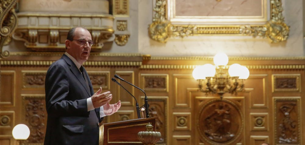 French Prime Minister Jean Castex attends the French Government declaration, followed by a debate, at the French Senate, in Paris, on July 16, 2020. Photo by Jean-Bernard Vernier/JBV News/ABACAPRESS.COM