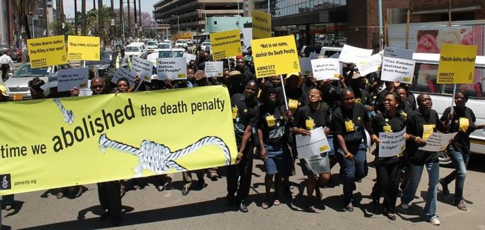 Amnesty Zimbabwe activists march on World Day Against the Death Penalty