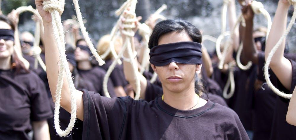 Manifestation contre la peine de mort