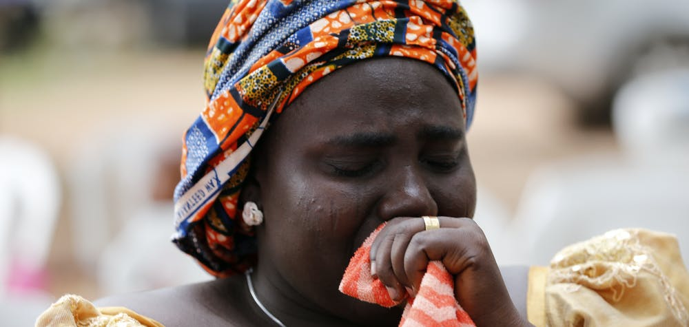 Rebecca Samuel, mother of Sarah Samuel, one of Chibok school girls kidnapped by Boko Haram militants, is seen during the 5th anniversary of the kidnap of Chibok school girls in Abuja, Nigeria April 14, 2019. REUTERS/Afolabi Sotunde