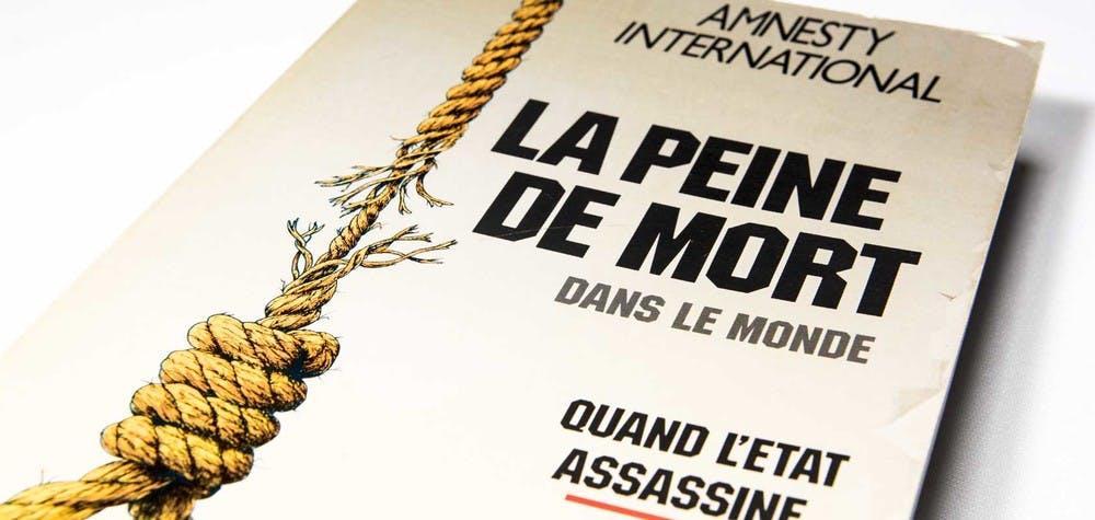 """Couverture du Rapport """"la peine de mort dans le monde - Quand l'État assassine"""""""