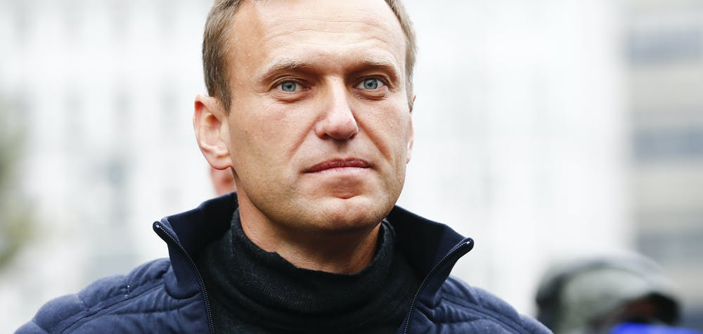 MOSCOW, RUSSIA - (ARCHIVE) : A file photo dated September 29, 2019 shows Russian opposition leader Alexei Navalny during a rally in support of political prisoners in Prospekt Sakharova Street in Moscow, Russia.  Alexei Navalny is unconscious in hospital after allegedly being poisoned according to his press secretary. Sefa Karacan / Anadolu Agency